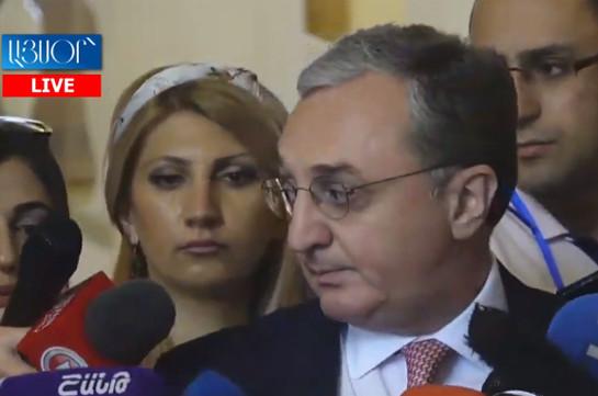 Relations between Armenia, the USA active: Armenia's FM