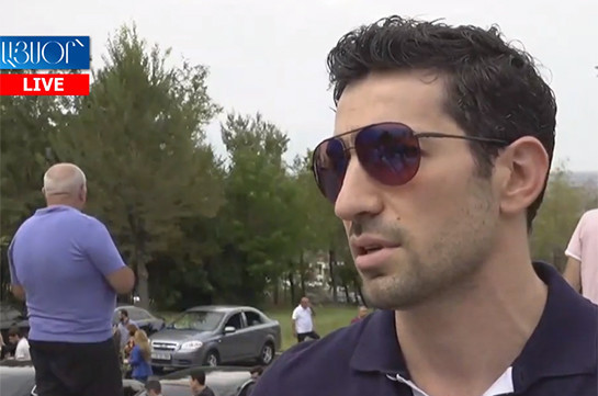 """Son of Armenia's ex-president describes situation over him """"inadmissible"""""""