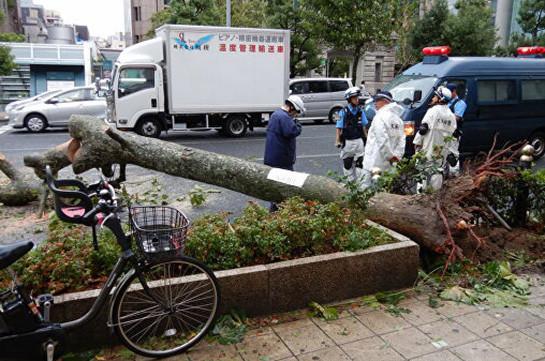 Ճապոնիայում թայֆունի պատճառով 20 վիրավոր կա, մոտ 930 կացարան առանց էլեկտրամատակարարման են մնացել