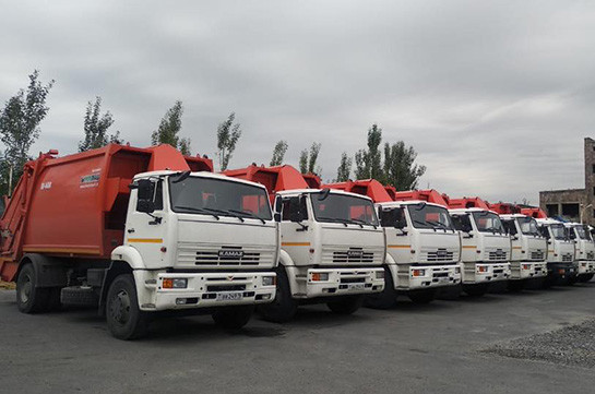 New garbage trucks reach Yerevan, garbage removal issue nears to logical end: Armenia's PM