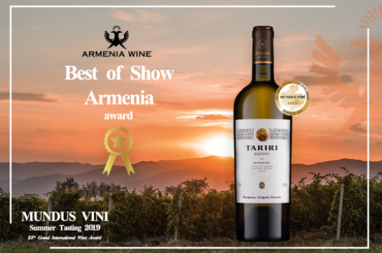 Armenia Wine's Gold Victory at Grand International Wine Award MUNDUS VINI
