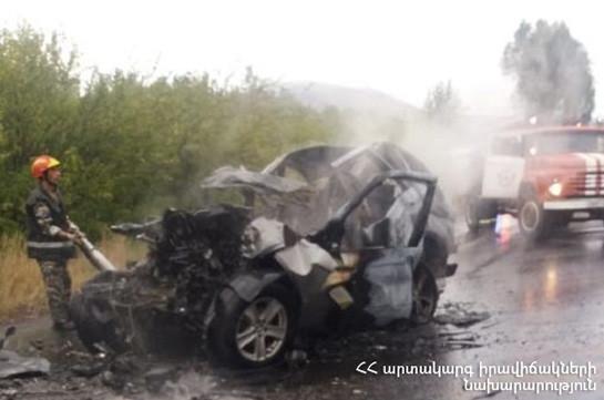 Վթար՝ Երևան-Սևան ճանապարհին.  «BMW X5» ավտոմեքենայի վարորդը տեղում մահացել է