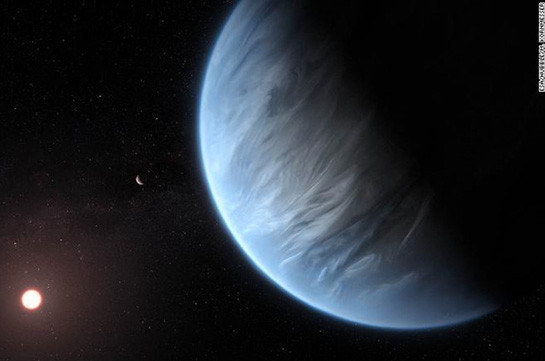 Water detected in atmosphere of potentially habitable super-Earth