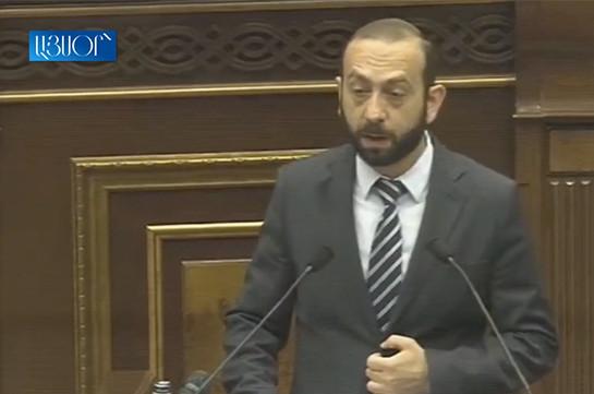 Арарат Мирзоян выступил с заявлением в связи с создавшейся вокруг Конституционного суда ситуацией