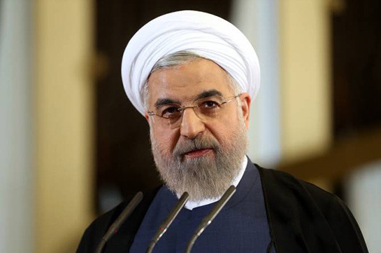 Iran's president Rouhani arrives in Armenia