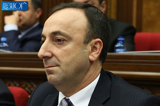 Draft decision on terminating CC chairman Hrayr Tovmasyan's authorities adopted, to be sent to CC