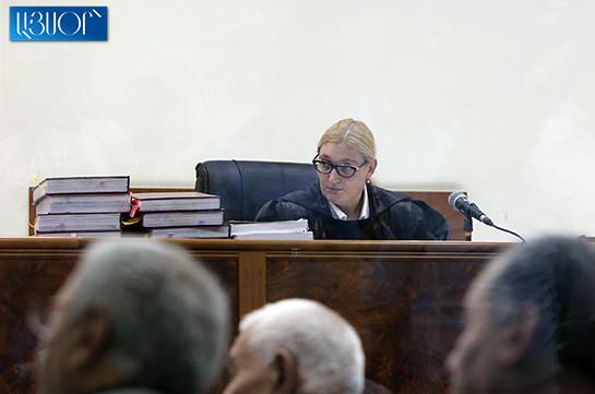 Robert Kocharyan's defense team to file recusal motion of judge Anna Danibekyan