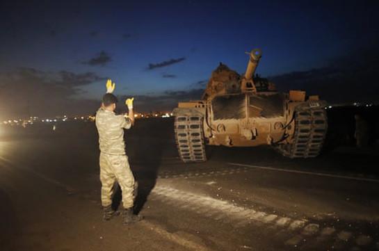 Թուրքիան զրահատեխնիկա է կուտակում Սիրիայի հետ սահմանին