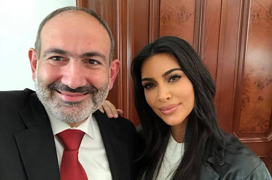 Armenia's PM posts photo with Kim Kardashian, says she promised to visit Armenia more frequently