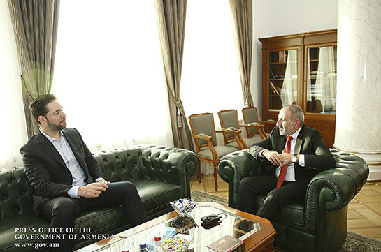 Armenia has big potential of human talent: Alexis Ohanian meets with Armenia's PM