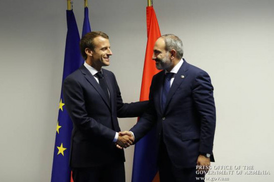 Armenia's PM holds phone conversation with French President