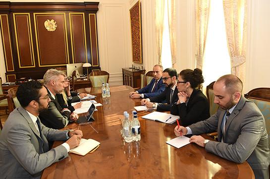Тигран Авинян принял делегацию во главе с региональным директором ВБ
