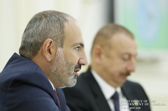 Armenia's PM, Azerbaijani president discuss prospect of Karabakh conflict settlement in Ashkhabad