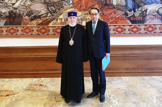 Ամենայն Հայոց Կաթողիկոսն ընդունել է  Ճապոնիայի վարչապետի  հատուկ հարցերով խորհրդականին