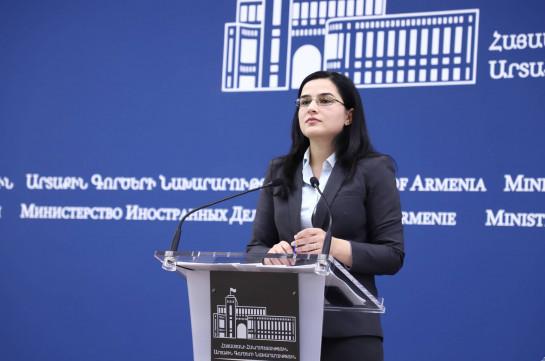 Azerbaijani FM confirms existence of policy of discrimination against Armenians in Azerbaijan: Armenia's MFA spokesperson