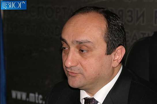 Арестован бывший министр транспорта Армении
