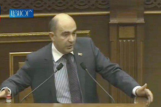 Bright Armenia faction head describes secret raise of ministers and deputy ministers' salaries as shame