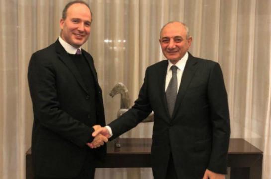 Artsakh president pays visit to Belgium