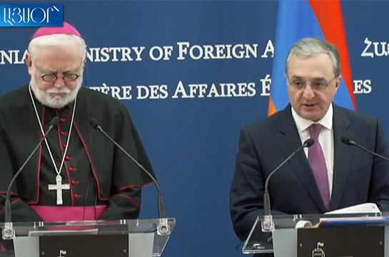 Глава МИД Армении: Осуждение Геноцида – это большой вклад в достижение согласия между государствами