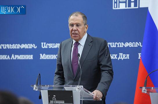 Russia positively assesses Armenia's presidency in EAEU: Lavrov
