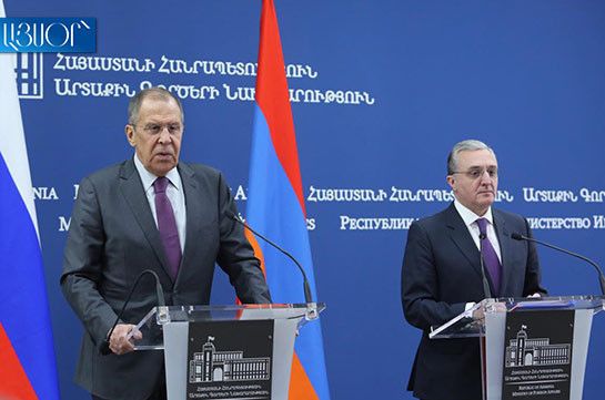 Мнацаканян выразил благодарность Лаврову за содействие соотечественникам в Сирии