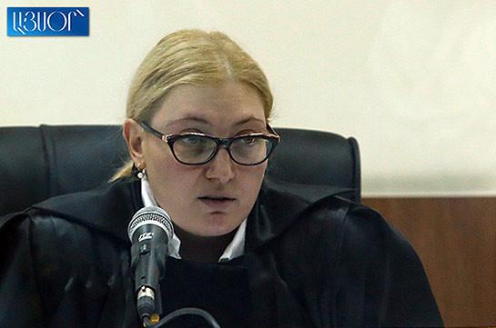 Աննա Դանիբեկյանը մերժեց Քոչարյանի պաշտպանների՝ ինքնաբացարկի վերաբերյալ միջնորդությունը