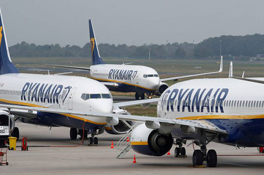Ryanair plans to launch three new flight directions from Armenia