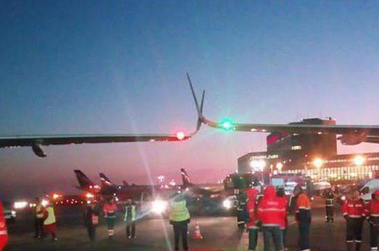 В Шереметьеве A320 задел при рулёжке другой самолёт