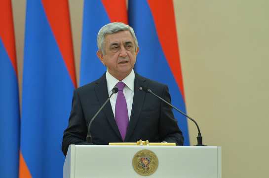 Artsakh will never be part of Azerbaijan, the conflict has no military solution: Serzh Sargsyan to Baku