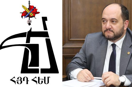 Араик Арутюнян завтра встретится с представителями Молодежного союза АРФ «Дашнакцутюн»