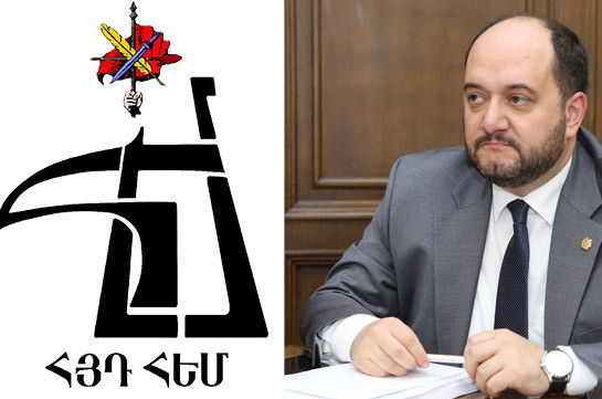 ARF-D youth union, Education minister Arayik Harutyunyan to meet on December 3