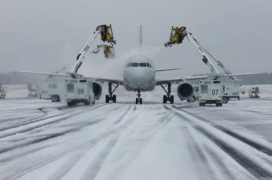 В США из-за плохой погоды отменили несколько сотен авиарейсов