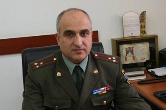 Առաքել Մարտիկյանը նշանակվել է ԶՈՒ ԳՇ հետախուզության գլխավոր վարչության պետ