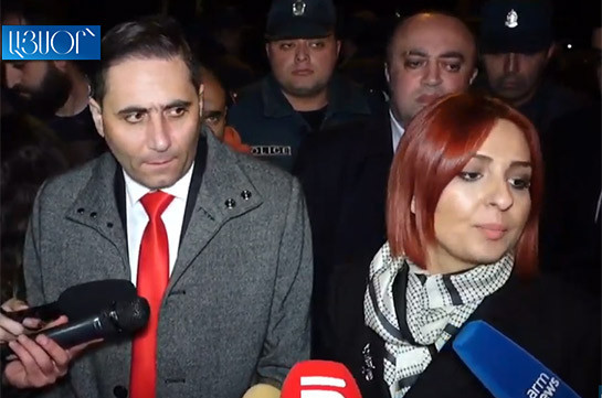 Bright Armenia, Prosperous Armenia factions' lawmakers visit young people in police department