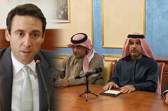 Шейх во время встречи с Айком Марукяном почувствовал, что они неприятные для него люди – Гагик Царукян