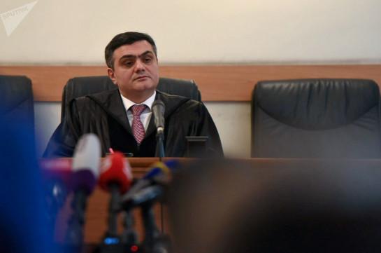 Мхитар Папоян удовлетворил ходатайство прокуроров о самоотводе судьи