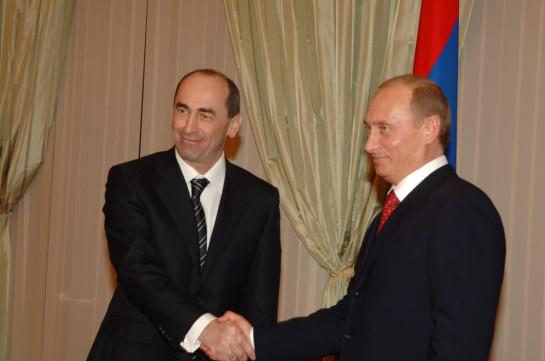 Russia's president congratulates Robert Kocharyan on upcoming holidays