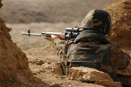 Армянский военнослужащий ранен в результате выстрела с азербайджанской стороны