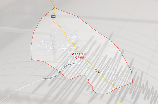 Two earthquakes of 4-5 and 3 magnitudes registered 10 km of Armenia's Ashotsk community