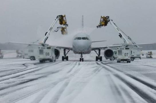 Չիկագոյի օդանավակայաններում հարյուրավոր չվերթներ են չեղարկվել՝ ձնամրրիկի հետևանքով
