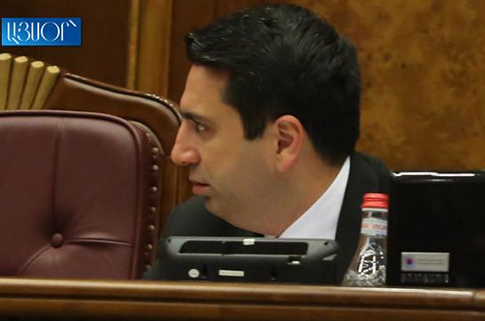 Ален Симонян: Парламент – не место для таких депутатов как Геворк Петросян