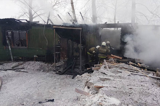House fire in Siberian village kills eleven, injures two