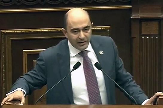 Պարոն Միրզոյանն ընդդիմադիր խմբակցությունների նկատմամբ կիրառում է հանրապետականների ընդունած կանոնակարգի պատժամիջոցները. Մարուքյան