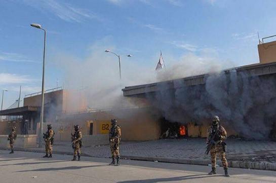 Три человека пострадали при обстреле посольства США в Багдаде