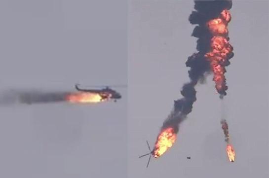 В Идлибе сбили вертолет сирийской армии