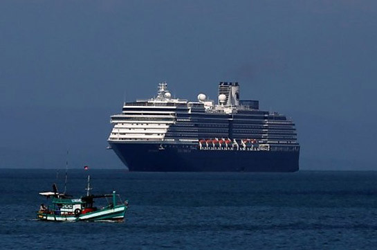 'Pariah' cruise ship rejected by five ports docks at last