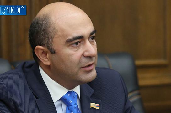 Criminal case filed into threats against Bright Armenia faction head Edmon Marukyan