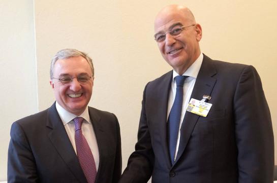 Ժնևում տեղի է ունեցել Հայաստանի և Հունաստանի ԱԳ նախարարների հանդիպումը