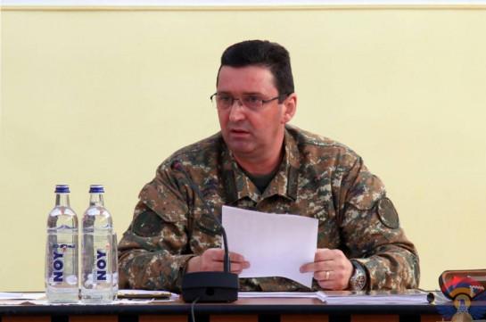 Командующий Армией обороны провел рабочее совещание