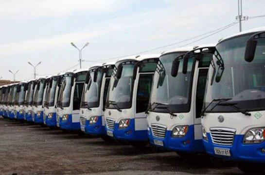 Пассажироперевозки из Еревана в Арташат, Масис, Арарат и Веди и в обратном направлении отменены